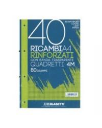 RICAMBIO 21x29,7 BLASETTI FORI RINFORZATI QUADRI 4MM