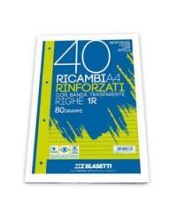 RICAMBIO 21x29,7 BLASETTI FORI RINFORZATI RIGHE