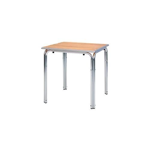 Tavolo Con Base In Alluminio E Piano Quadrato Centro